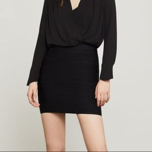 BCBGMaxazria Black bodycon skirt, Good Cond.